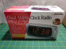 Emerson CK5250 Large Display Dual Alarm Clock Am/Fm Radio Tuner Brand New
