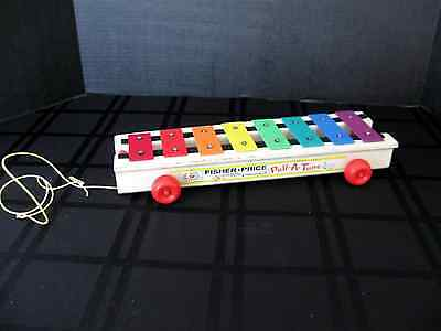 FISHER PRICE 1964 XYLOPHONE PULL A TUNE 870 Musical Toy Collectible Vintage