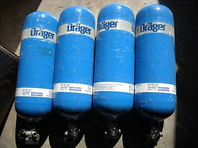 Drager 60 Minute 88 Cubic Feet 4500 Psi Carbon Tank Cylinder Manufactured 10-11