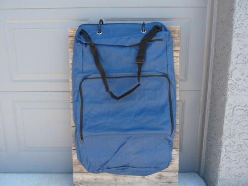 Cordura Zippered Garment Bridle Bag Show BLUE
