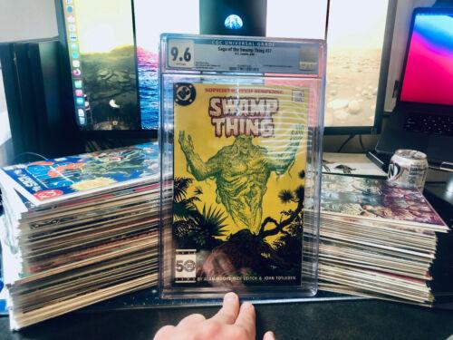90+ Book Lot w/ SAGA OF THE SWAMP THING #37 CGC 9.6-  1ST FULL JOHN CONSTANTINE!