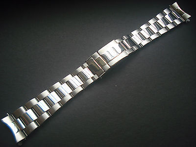 19MM POLISHED CENTER OYSTER BAND BRACELET WITH THICKER CLASP FOR ROLEX OLD WATCH