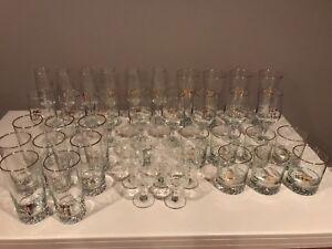 Lot de coupes / verres variés