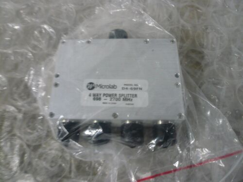 MICROLAB 4 WAY POWER SPLITTER 698-2700 MHz D469FN NEW NO BOX