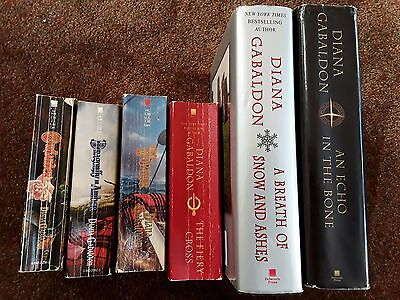 Diana Gabaldon's OUTLANDER Partial Book Series Lot Set; Books 1 2 3 5 6 7