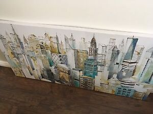 """Large """"sketch"""" canvas painting"""