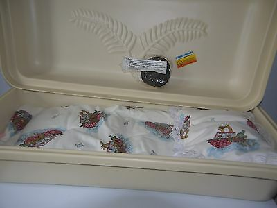 """""""Baby Dream"""" almond colored exterior infant casket combo  30"""" baby boy or girl"""