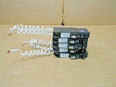 Lot Of 5 Square D Qob120vhcafi Circuit Breaker 22ka Combo Arc-fault 7 Avail