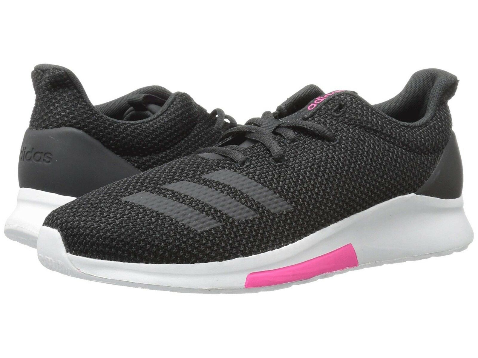 Women Adidas Puremotion Running Shoe B96549 Black/Carbon/Shock Pink Brand New