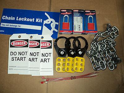 Brady Lk041r Portable Lockout Kit Filled 3 Padlock