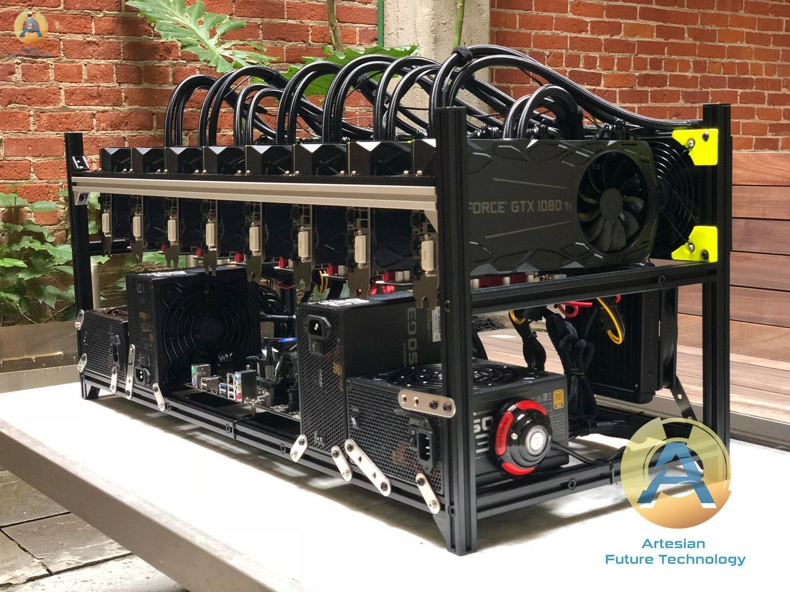8 GPU GTX 1080ti - LIQUID COOLED Hybrid Rig - Quiet cryptocurrency miner