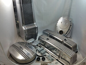 Sbc dress up kit ebay polished finned sb chevy sbc engine dress up kit short 283 327 350 1958 1979 sciox Choice Image