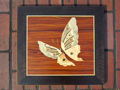 Butterfly wood wall art, butterfly home decor, marquetry, wood mosaic, inlay  ()