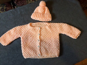 Crochet baby dresses OR sweater