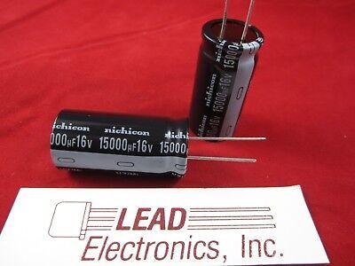 Qty2 Nichicon 15000uf 16v Uvz1c153mrd 15000mfd 16-volt 105-deg