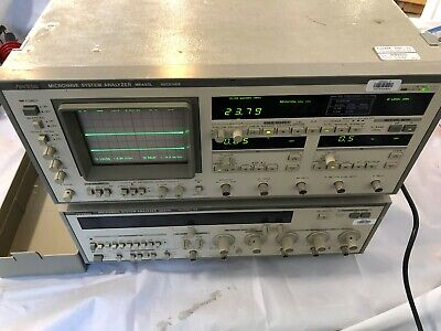 2-anritsu Me453l Microwave System Analyzer Transmitter Only Opt 34.