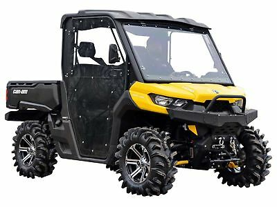 SuperATV Can-Am Defender (2 Door) Heavy Duty Full Cab Enclosure Doors - 2016+