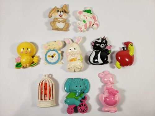 9 Vintage 1970s Avon Fragrance Glace Pin Pals & Pins + 1 Unbranded Pin - USED