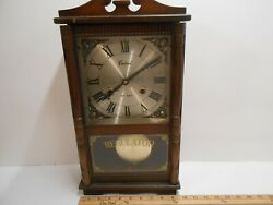 Vintage Centurion Regulator 35 Day Wind-Up Chiming Wall Clock Without Keys
