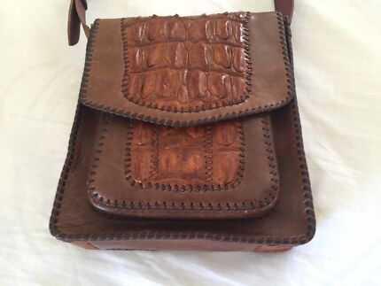 Leather and Crocodile Shoulder Bag Camden Camden Area Preview