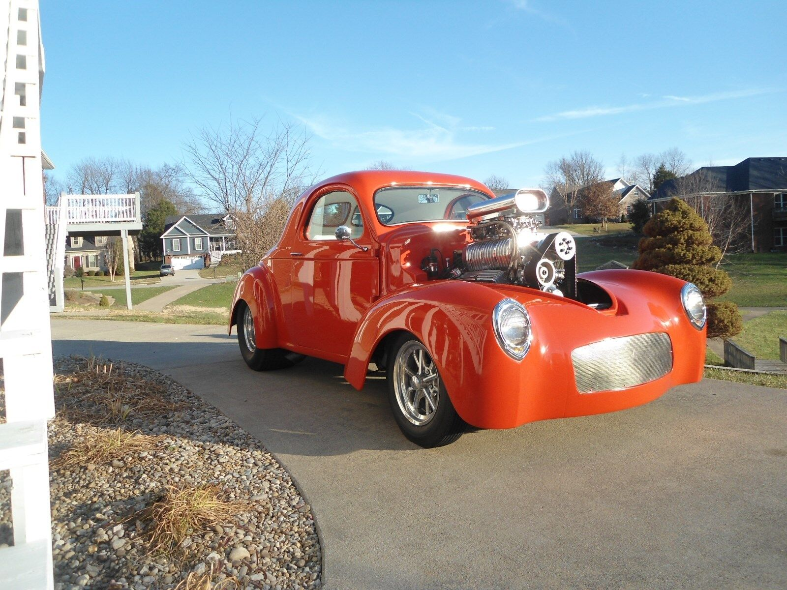 1941 Willys 439 : 1941 Willy's Coupe Gasser, 383ci with b&m blower