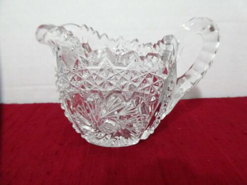 EAPG by ARTCUT CLEAR GLASS MILK JUG PITCHER PRESSED DEPRESSION