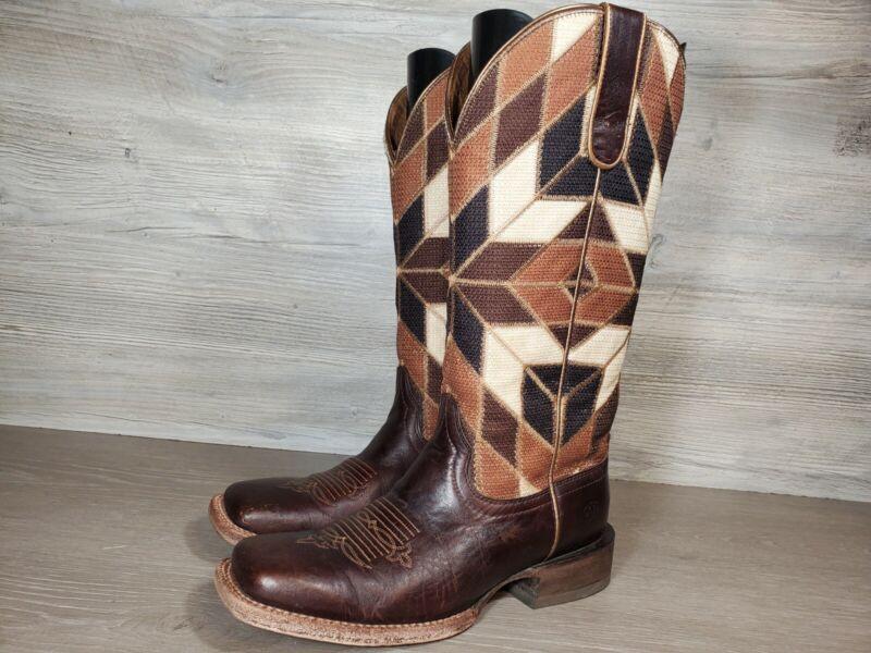 Ariat Womens Sz 7.5B Cowboy Boot Mirada Chocolate