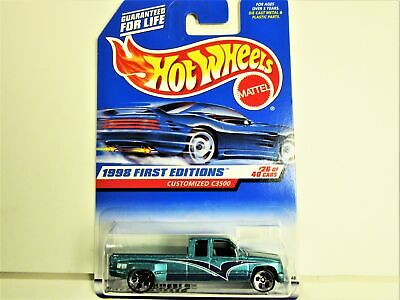HOT WHEELS 1998 CHEVROLET CHEVY DUALLY PICKUP TRUCK FIRST EDITION NEW IN PACKAGE