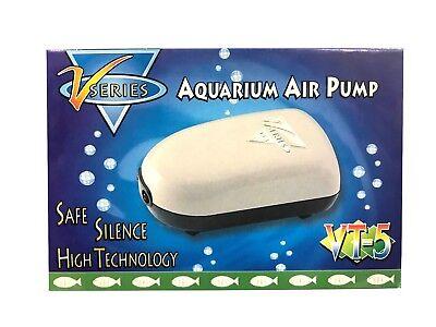 Air Pump Two Outlets 25-40 Gallon Fresh Salt Water Aquarium Fish Tank 2x 24GPH