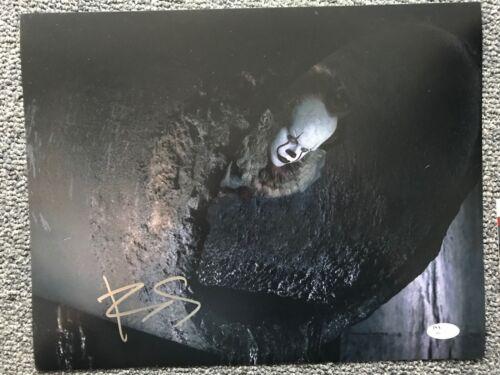IT Pennywise Bill Skarsgard Autographed Signed 11x14 Photo JSA COA #4