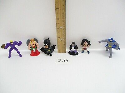 Lot of 6 Mini Superhero & Villain Figures - Wonder Woman, Hawk, Batman Penguin + Wonder Woman Mini