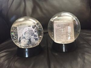 Two new picture snow globes