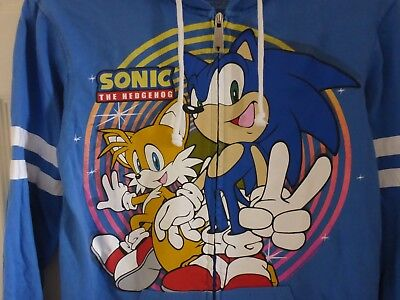 Sonic The Hedgehog And Tails (Sonic the Hedgehog and Tails Hot Topic Hoodie EXTRA SMALL Sega Limited Rare)