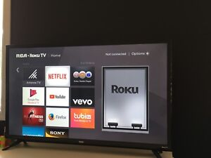 RCA 40 inch tv with built in roku 250 OBO