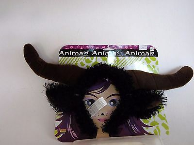 Bull Headband with Horns Animal Kit Costume Forum Halloween Party Accessory