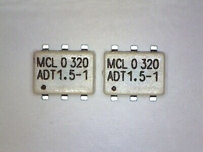 2 Pcs Mini-circuits Adt 1.5-1 Transformer Surface Mount 50 0.5 To 650 Mhz