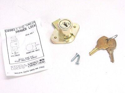 New National Cabinet Lock Desk Drawer Door 1516 Cylinder Kd Brass