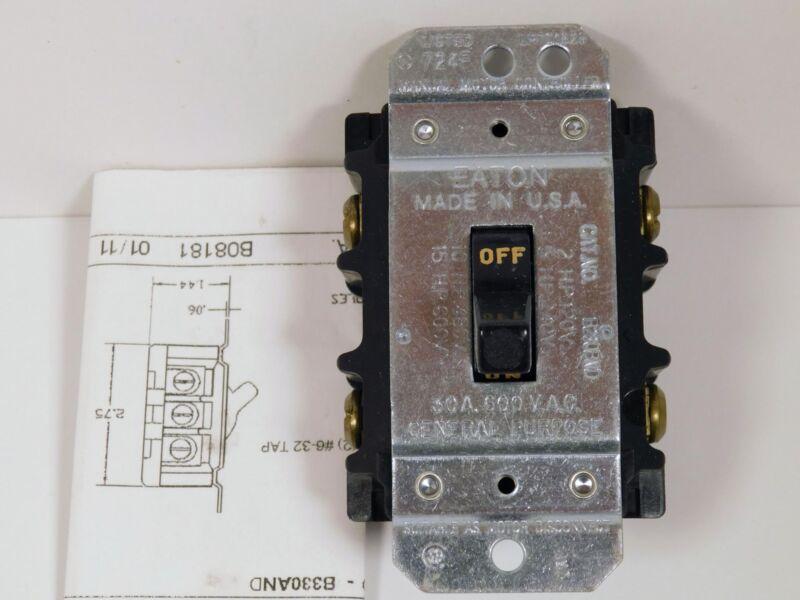 Eaton B230BND Manual Motor Disconnect Switch NOS NIB