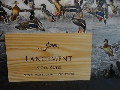 LANCEMENT COTE ROTIE WOOD WINE PANEL END GREAT CONDITION