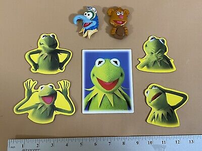 Vintage The Muppet Show kermit The Frog, Fozzie Bear & Gonzo Magnets RARE!