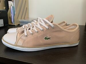 LACOSTE Womens Gold/White Ziane Sneakers Port Kennedy Rockingham Area Preview