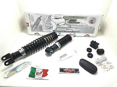 Set Shock Absorbers Carbone Front Rear Adjustable Black Vespa 50 Special V5B1T