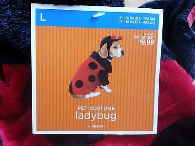 New Ladybug Halloween dog costume large 21-30 lbs 17-19 pet puppy red black - Ladybug Halloween Costumes For Dogs
