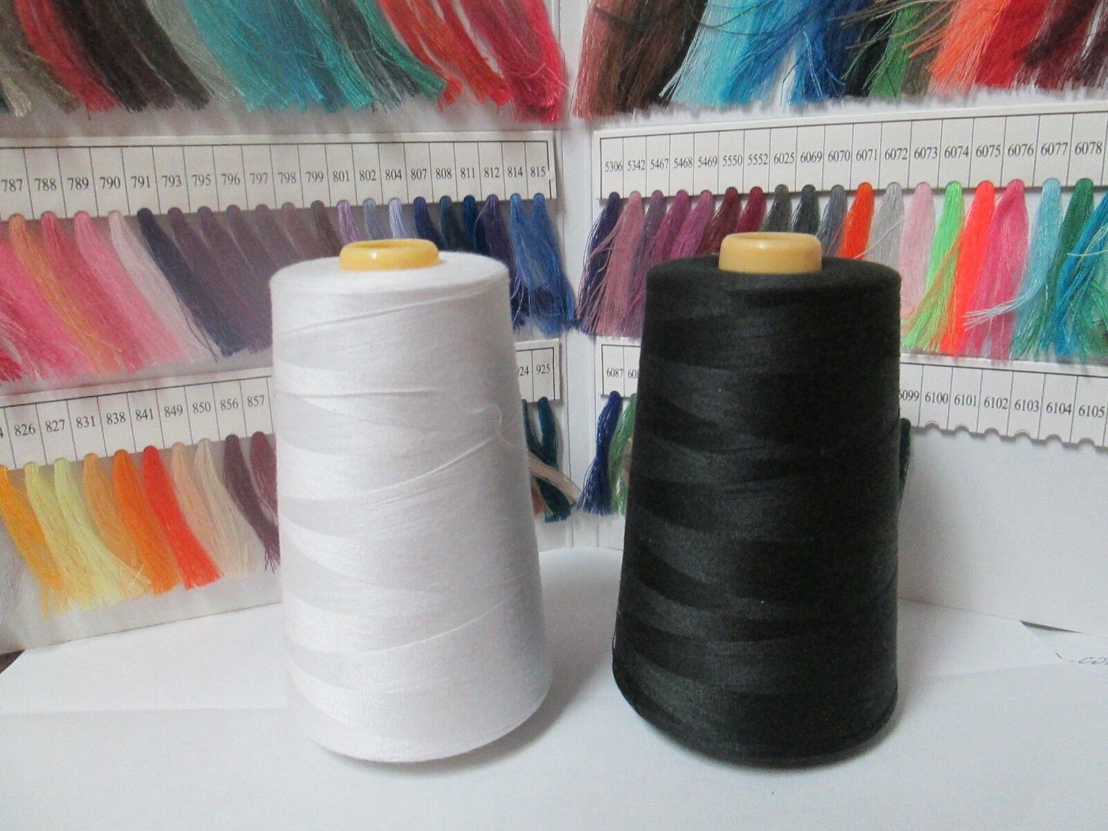 6000 Yds. Serger Sewing Machine Thread 100% Spun Polyester - All Purpose Thread