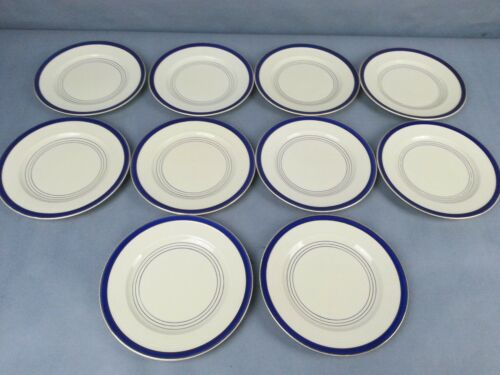 10 Vintage Booths Ribstone Ware Great Britain Bread & Butter Plates