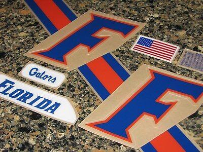 FLORIDA GATORS COMBAT Football Helmet Decal Set 3M (Florida Gators Helmet Decal)