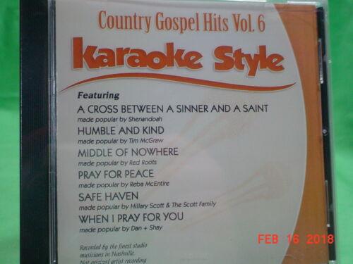 Country Gospel  Volume #6  Christian  Daywind  Karaoke Style  CD+G  Karaoke  NEW