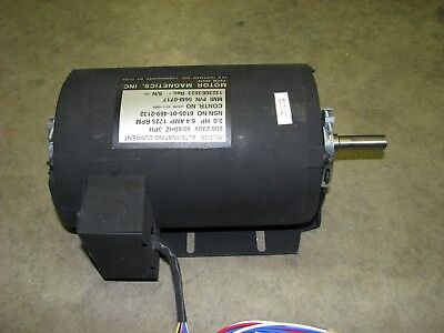 Magnets Electric Motor 2hp 1725 Rpm 3-phase 208-230 Volt Ac Military Surplus