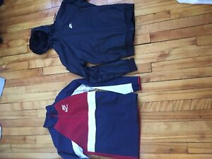 Nike and under armour track jacket size small