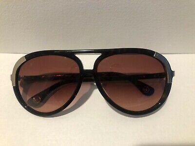 MICHAEL KORS Delancey Aviator Women's Sunglasses M6714S Brown w/Gold Accents-EUC
